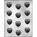 Chocoladevorm Geribbled Hart 90-1041