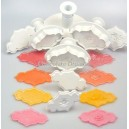 PME Creative Plaque Cutters Rose Spray & Plain Set / 8