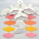 PME Creative Plaque Cutters Trellis Raised & Quilted Set/8