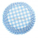 Culpitt Baking Cups Gingham Blue