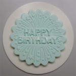 Alphabet Mould Cupcake Topper Happy Birthday With Firework