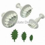 Plunger Cutter Christmas Leaf Set/3