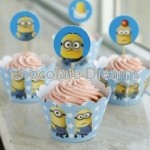 Cupcakewrappers/Toppers Minions