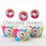 Cupcakewrappers/Toppers Hello Kitty