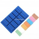 Siliconen Mold Legoblokje Blauw