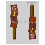Chocoladevorm Girl Blocks Pretzel
