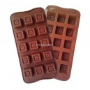 Siliconen Chocolate Mold Double Square