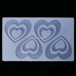 Siliconen Decoration Mold Heart Assorti