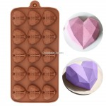 Siliconen chocolate mold geometric hearts